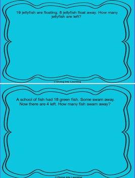 Word Problems: Ocean Theme for ActivBoard (First Grade)