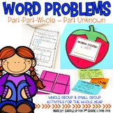 Word Problems: Part Part Whole-Part Unknown