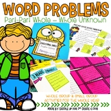 Word Problems: Part Part Whole-Whole Unknown