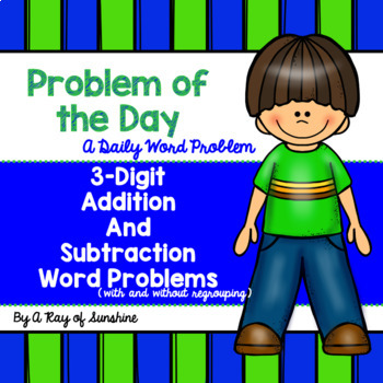 3-Digit Addition and Subtraction Word Problems {Problem of the Day}
