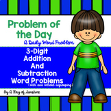 3-Digit Addition and Subtraction Word Problems {Problem of