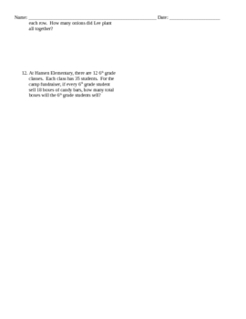 Word Problems Ratios 2