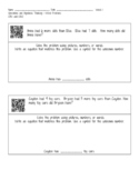 Word Problems Read Aloud with QR codes A
