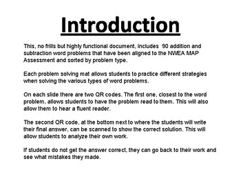 Word Problems- Result Unknown (Aligned to NWEA MAP) Self reading, self checking