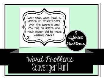 Word Problems Scavenger Hunt