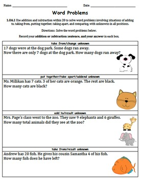Word Problems Scavenger Hunt and Practice