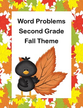 Word Problems-Second Grade-Worksheets-Fall Theme
