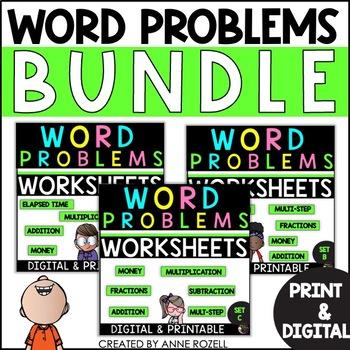 Word Problems-Sets A-C  BUNDLE