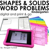 Word Problems Shapes and Solids Kindergarten