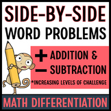 Addition and Subtraction Word Problem Strategies (Side-by Sides)