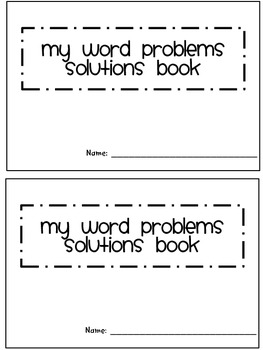 Word Problems Solution Pack