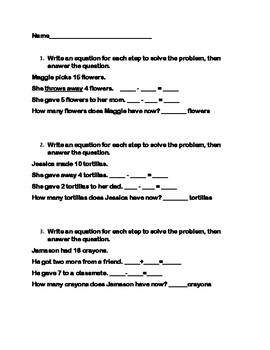 Word Problems: Step-By-Step Practice