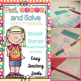 Word Problems: Sticker Stories (Data and Measurement)
