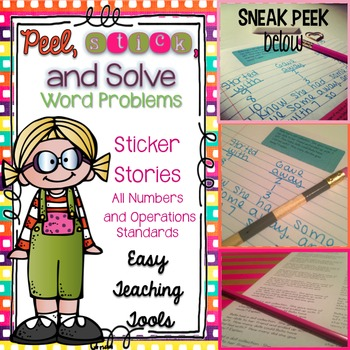 Word Problems: Sticker Stories (NBT)