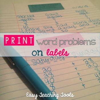 Word Problems for the Whole Year