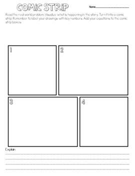 Word Problems/Story Problems Visualize & Solve EDITABLE