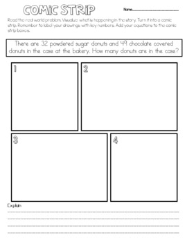 Word Problems/Story Problems Visualize & Solve FREEBIE