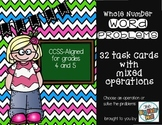 Word Problems with Whole Numbers - Mixed Operations