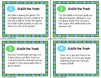 Mixed Operation Word Problems Strategies: Slash the Trash