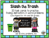 Mixed Operation Word Problems Strategies: Slash the Trash