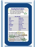 Word Problems Strategy Cards for Common Core