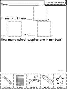 Word Problems- Student created number stories