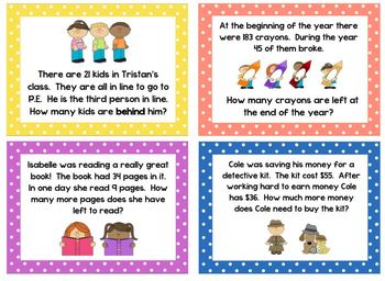 Word Problems (Subtraction with regrouping)