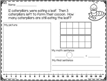 Word Problems:  Subtraction within 20