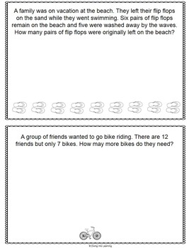Word Problems: Summer Theme Bundle (First Grade)