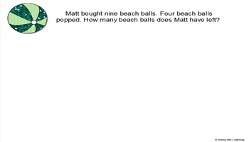 Word Problems: Summer Theme (First Grade)