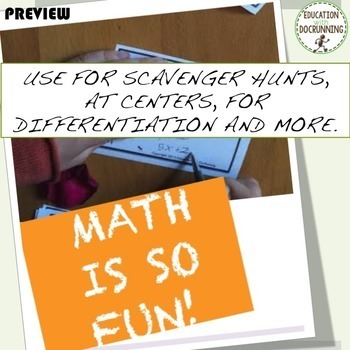 Word Problems Task Card Activity Bundle for preAlgebra and Algebra