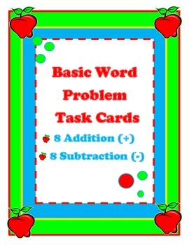 Word Problems (+) (-) Task Cards