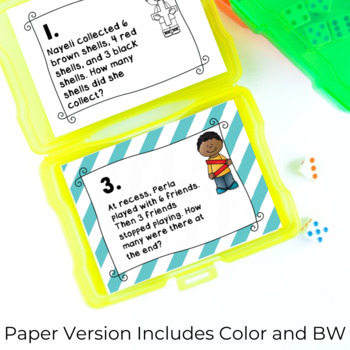 Addition Word Problems SCOOT Task Cards