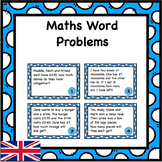 Word Problems Task Cards - Addition, Subtraction, Multipli