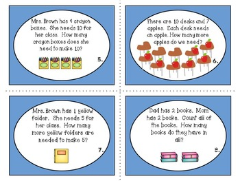 Word Problems Task Cards: Addition and Subtraction
