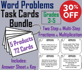 3rd 4th 5th Grade Word Problems Task Cards Bundle