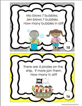 Word Problems Task Cards Morning Work Early Finishers