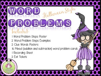 Word Problems Task Cards/ SCOOT