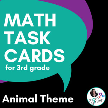 QR Codes Math Task Cards for 3rd Grade