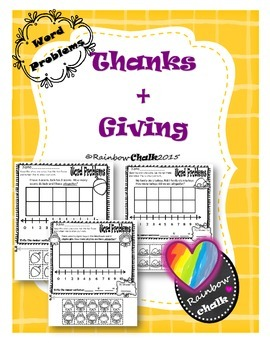 """Word Problems: """"Thanks + Giving"""""""
