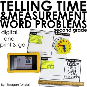 Word Problems Time and Measurement Second Grade