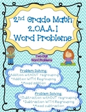 Word Problems Two-digit Addition and Subtraction