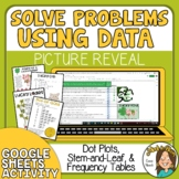 Word Problems Using Data  Dot Plot, Stem, Frequency Tables