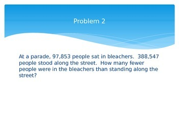 Word Problems Using EngageNY 4th Grade Module 1 Lesson 17 4.NBT.4 and 4.OA.3