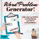 Back To School WRITE YOUR OWN Word Problems ALL YEAR LONG