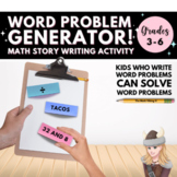 Write your own WORD PROBLEMS! Mixed Operations Math Stories Test Prep