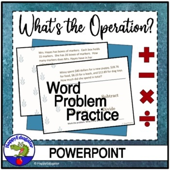 Word Problems - What Operation Do I Use?