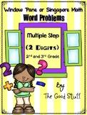 Multiple Steps Word Problems (Window Pane/Singapore Math)