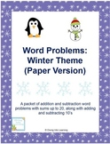 Word Problems: Winter Theme (First Grade)