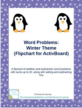 Word Problems: Winter Theme for ActivBoard (First Grade)